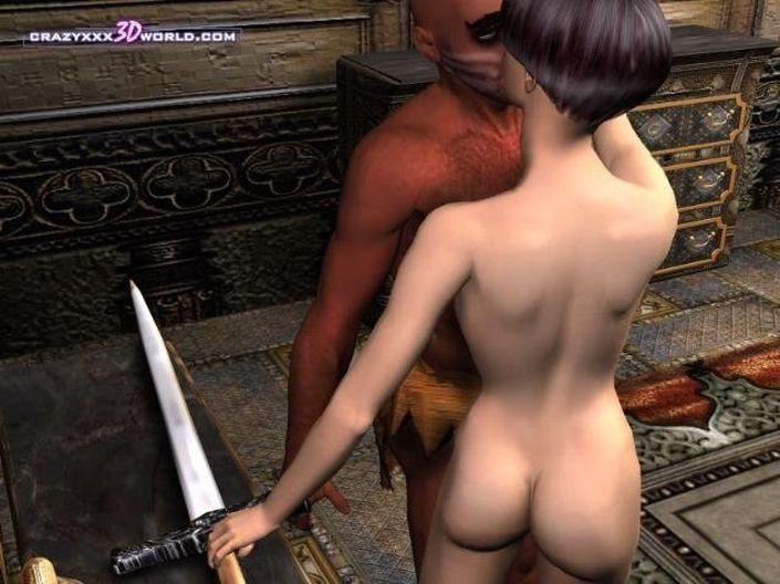Разгоряченный парень на 3D фото порно ебет обнаженную девку в роскошную письку